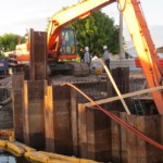 Composite sheet piling